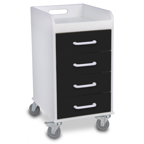 Compact 4 Drawer Locking Cart